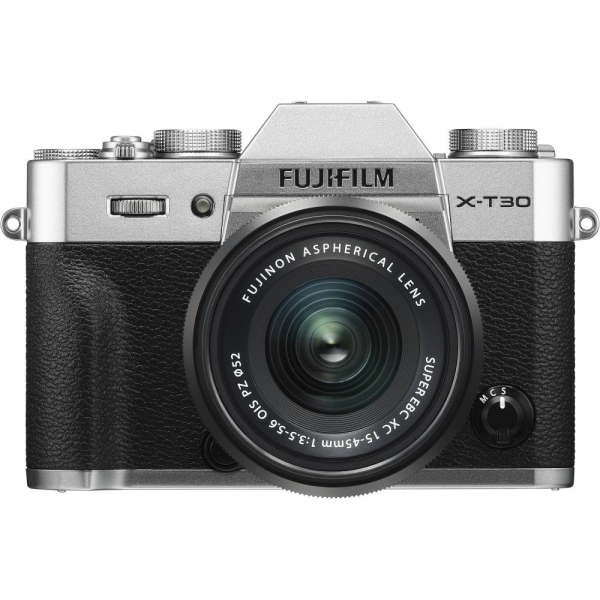 FUJIFILM X-T30 Mirrorless Kit + XC 15-45mm f/3.5-5.6 OIS PZ - Silver 0