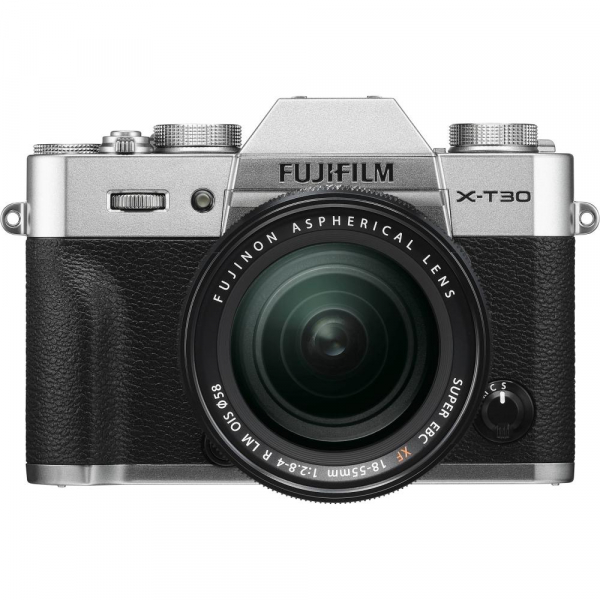 FUJIFILM X-T30 Mirrorless Kit + XF 18-55mm f/2.8-4 R LM OIS N - Silver 0