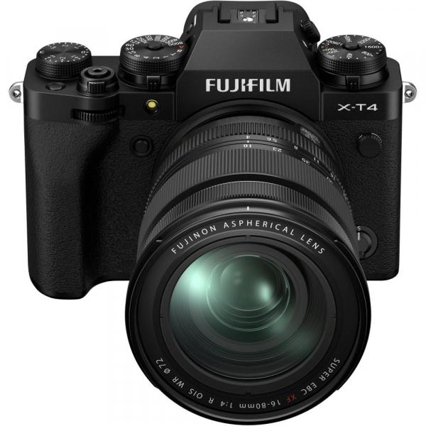 Fujifilm X-T4 Aparat Foto Mirrorless 26.1Mpx 4K/60fps X-Trans CMOS 4 KIT  XF 16-80mm f/4 R OIS WR (black) si XF 16-55mm f/2.8 R LM WR 7