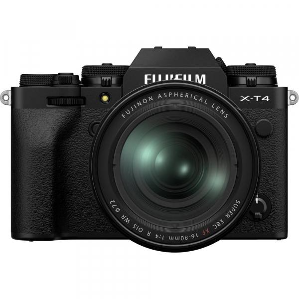 Fujifilm X-T4 Aparat Foto Mirrorless 26.1Mpx 4K/60fps X-Trans CMOS 4 KIT  XF 16-80mm f/4 R OIS WR (black) si XF 16-55mm f/2.8 R LM WR 1