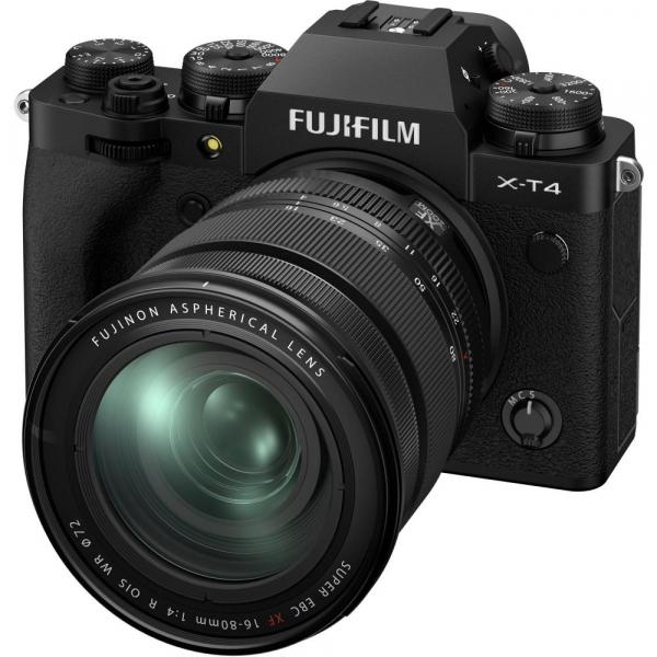 Fujifilm X-T4 Aparat Foto Mirrorless 26.1Mpx 4K/60fps X-Trans CMOS 4 KIT  XF 16-80mm f/4 R OIS WR (black) si XF 16-55mm f/2.8 R LM WR 8