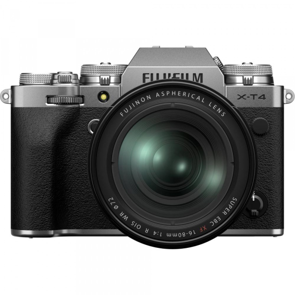 Fujifilm X-T4 Aparat Foto Mirrorless 26.1Mpx 4K/60fps X-Trans CMOS 4 (silver) KIT FUJIFILM XF 16-80mm f/4 R OIS WR (black) 0