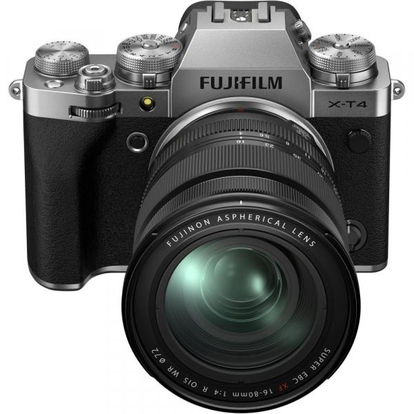 Fujifilm X-T4 Aparat Foto Mirrorless 26.1Mpx 4K/60fps X-Trans CMOS 4 (silver) KIT FUJIFILM XF 16-80mm f/4 R OIS WR (black) 4