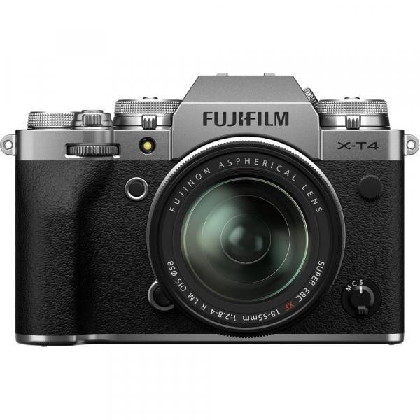 Fujifilm X-T4 Aparat Foto Mirrorless 26.1Mpx 4K/60fps X-Trans CMOS 4 (silver) KIT FUJIFILM XF 18-55mm f/2.8-4 R LM OIS (black) 0