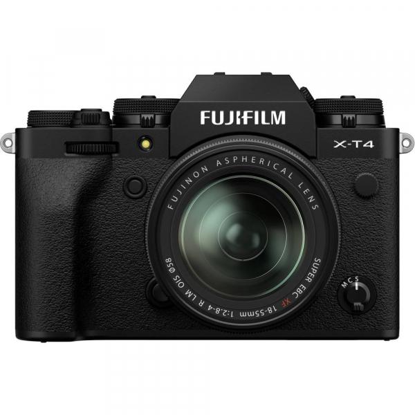 Fujifilm X-T4 Aparat Foto Mirrorless 26.1Mpx 4K/60fps X-Trans CMOS 4K KIT XF 18-55mm f/2.8-4 R LM OIS (black) si XF 16-55mm f/2.8 R LM WR 1