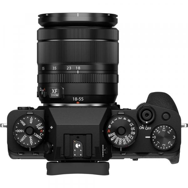 Fujifilm X-T4 Aparat Foto Mirrorless 26.1Mpx 4K/60fps X-Trans CMOS 4K KIT XF 18-55mm f/2.8-4 R LM OIS (black) si XF 16-55mm f/2.8 R LM WR 6