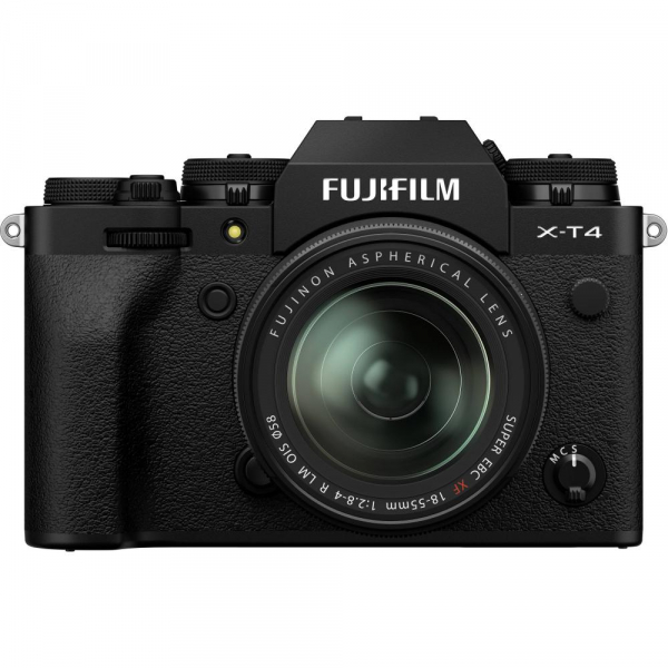 Fujifilm X-T4 Aparat Foto Mirrorless 26.1Mpx 4K/60fps X-Trans CMOS 4K KIT XF 18-55mm f/2.8-4 R LM OIS (black) si XF 50-140mm f/2.8 R LM OIS WR 1