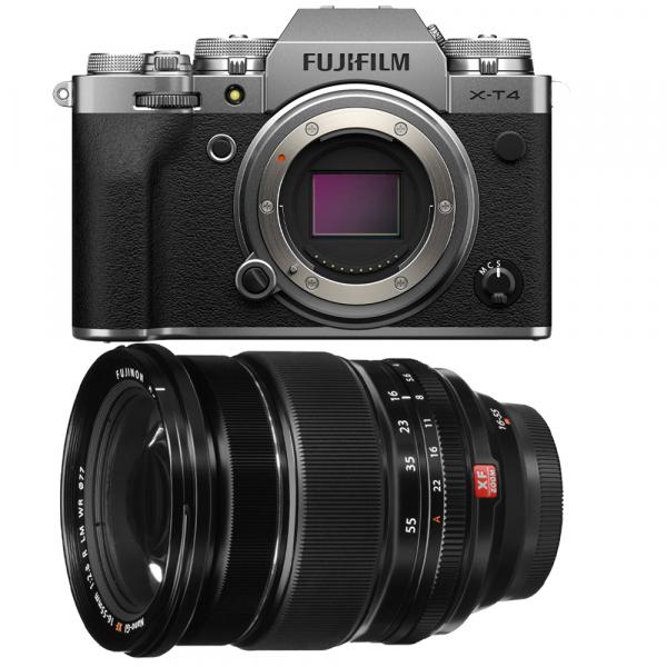 Fujifilm X-T4 Aparat Foto Mirrorless Body 26.1Mpx 4K/60fps X-Trans CMOS 4 (silver) kit cu XF 16-55mm f/2.8 R LM WR 0