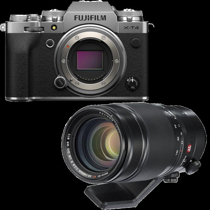 Fujifilm X-T4 Aparat Foto Mirrorless Body 26.1Mpx 4K/60fps X-Trans CMOS 4 (silver) kit cu XF 50-140mm f/2.8 R LM OIS WR 0