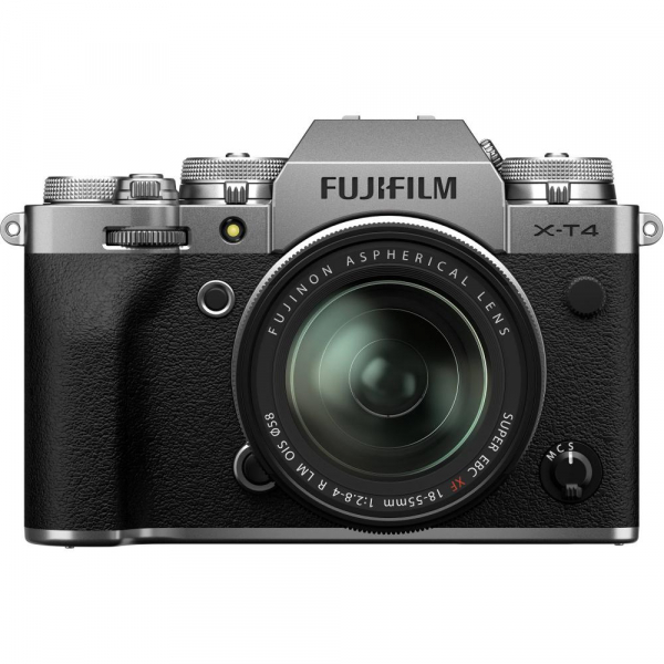 Fujifilm X-T4 Aparat Foto Mirrorless (silver) KIT  XF 18-55mm f/2.8-4 R LM OIS (black) si XF 16-55mm f/2.8 R LM WR 1