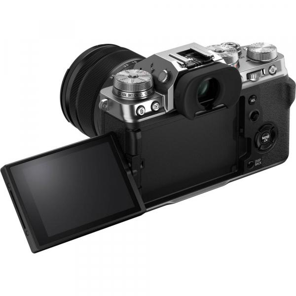 Fujifilm X-T4 Aparat Foto Mirrorless (silver) KIT  XF 18-55mm f/2.8-4 R LM OIS (black) si XF 16-55mm f/2.8 R LM WR 8