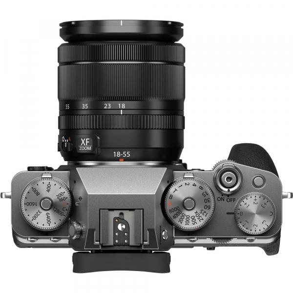 Fujifilm X-T4 Aparat Foto Mirrorless (silver) KIT  XF 18-55mm f/2.8-4 R LM OIS (black) si XF 16-55mm f/2.8 R LM WR 5