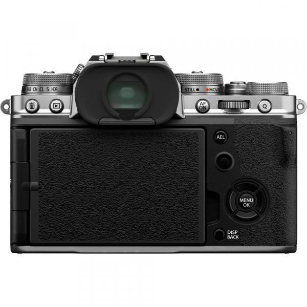 Fujifilm X-T4 Aparat Foto Mirrorless (silver) KIT  XF 18-55mm f/2.8-4 R LM OIS (black) si XF 16-55mm f/2.8 R LM WR 4