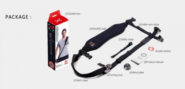 GGS FotoSpeed Curea umar sling F1 3