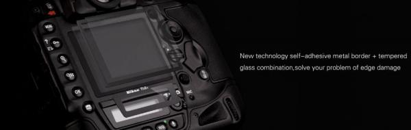 GGS LARMOR GEN 5 protectie din sticla pentru ecran + parasoalr ecran - Nikon D500/D600/D610/D750/D810/D850 1