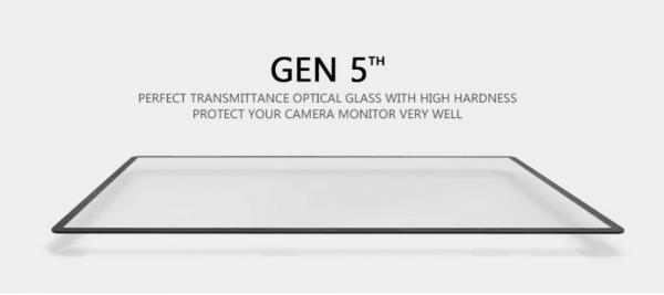 GGS LARMOR GEN 5 protectie din sticla pentru ecran + parasoalr ecran - Nikon D500/D600/D610/D750/D810/D850 0