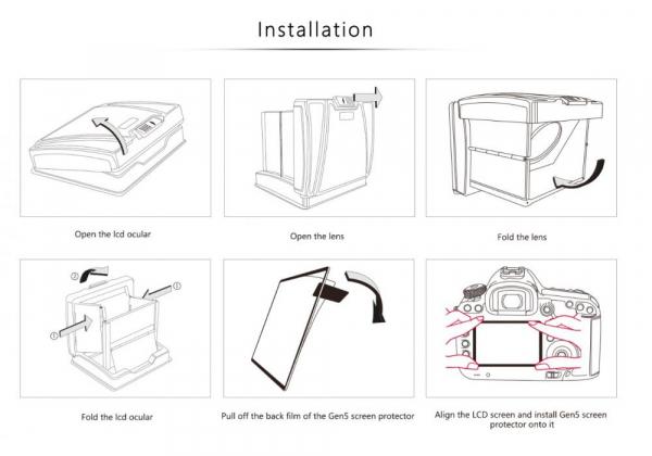 GGS MJ-S1 ocular LCD portabil  6
