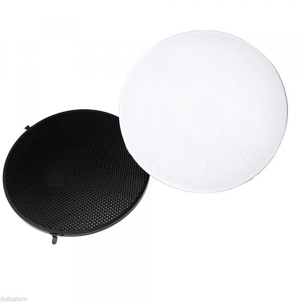 Godox Beauty Dish AD-S3 cu Grid AD-S4 pentru WITSTRO Speedlite Flash AD180/AD360 [1]