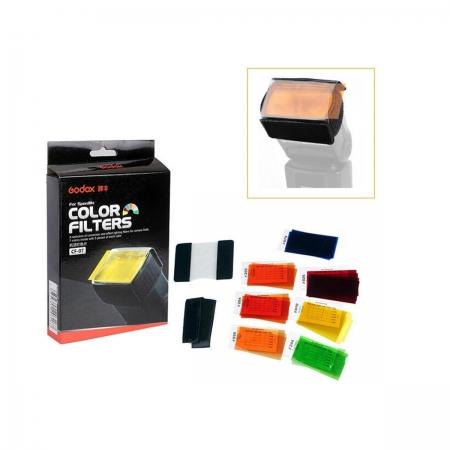 Godox CF-07 filtre (gel) coliorate 39x80mm pentru blitz cu patina [0]