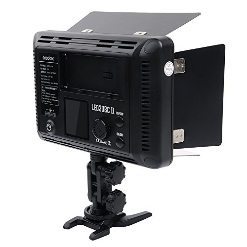 Godox LED308II c - lampa video cu voleti si telecomanda, 3300-5500K 1