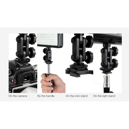 Godox LED308II c - lampa video cu voleti si telecomanda, 3300-5500K 5