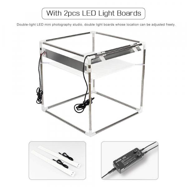 Godox LSD60 cort fotografie de produs cu iluminare LED, 60x60x60cm [2]