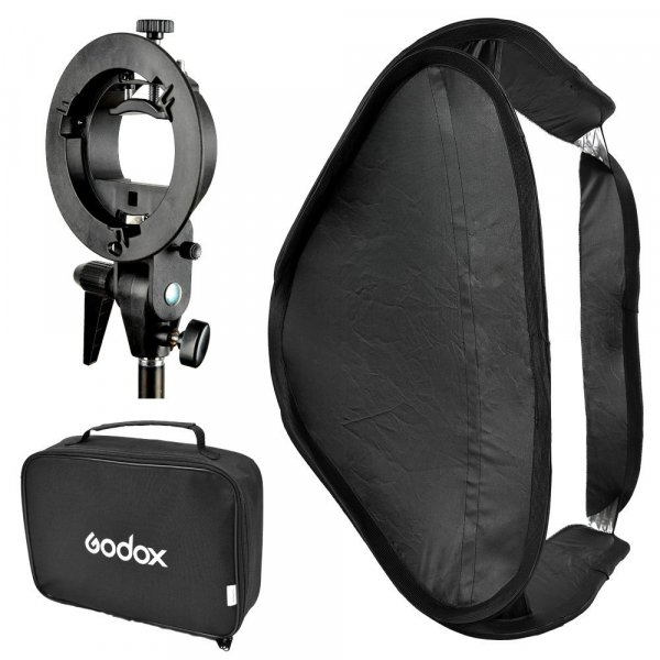 Godox SFUV5050 Softbox 50x50 cm cu Bracket S-type , softbox universal 0