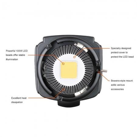 Godox SL-100W LED Video Light - montura Bowens , 5600K 5