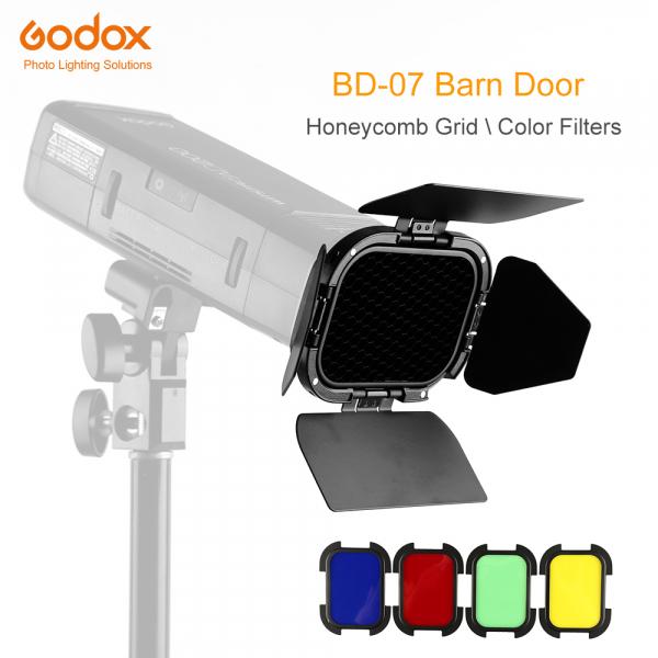 Godox Speedlite Color BD-07 - Grid cu voleti si filtre pentru AD200 0