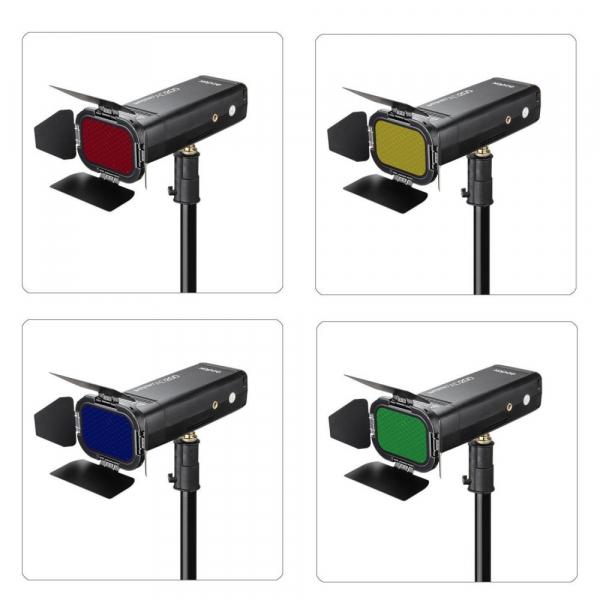 Godox Speedlite Color BD-07 - Grid cu voleti si filtre pentru AD200 4
