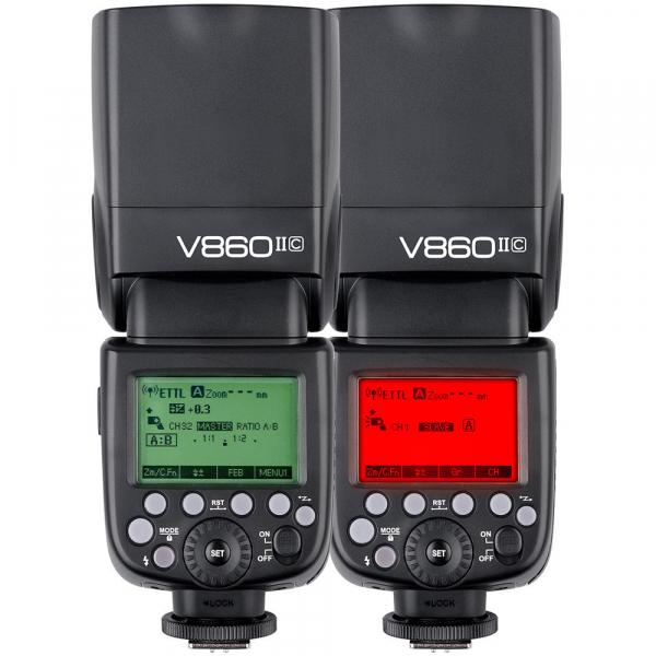 Godox Ving V860C II kit blitz 2.4G Wireless E-TTL pentru Canon, numar director 60 7