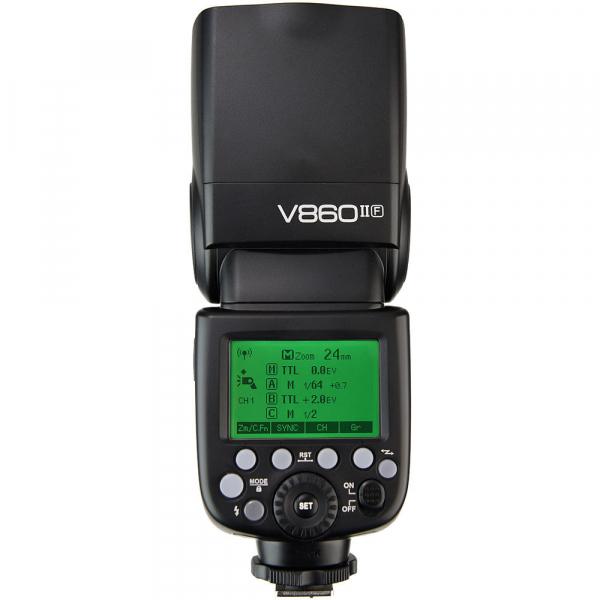 Godox Ving V860F II kit blitz      2.4G Wireless E-TTL pentru Fujifilm numar director 60 3