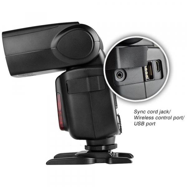 Godox Ving V860N II kit blitz 2.4G Wireless i-TTL pentru Nikon, numar director 60 6
