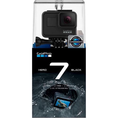 GoPro Hero 7 Black - Comenzi vocale, Stabilizare video, Wi-Fi, GPS, Rezistent la apa, 4k60/1080p240 5