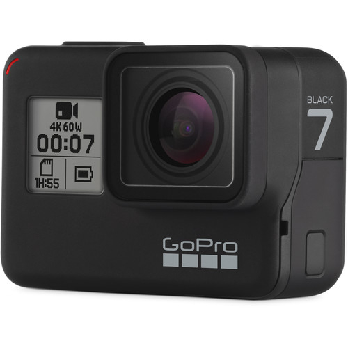GoPro Hero 7 Black - Comenzi vocale, Stabilizare video, Wi-Fi, GPS, Rezistent la apa, 4k60/1080p240 1