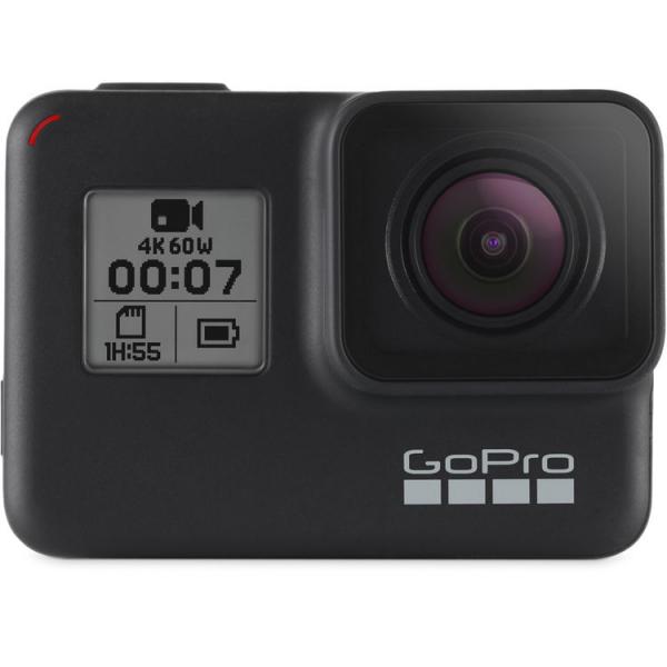 GoPro Hero 7 Black - Comenzi vocale, Stabilizare video, Wi-Fi, GPS, Rezistent la apa, 4k60/1080p240 0
