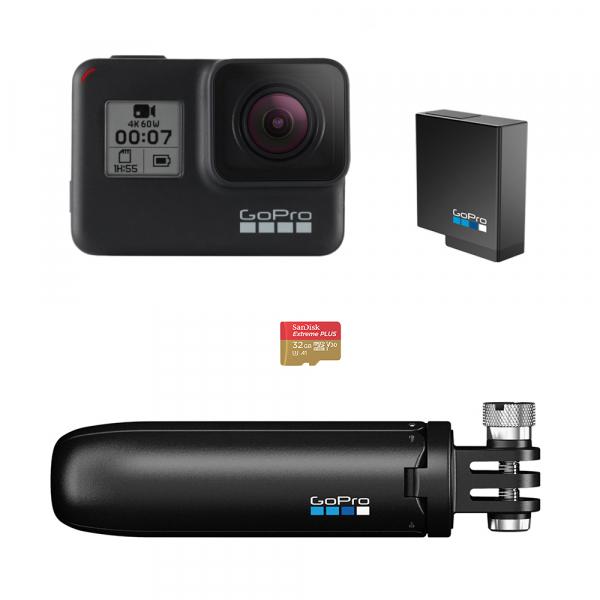 GoPro Hero 7 Black - Special Bundle Kit, Rezistent la apa, 4k60/1080p240 0