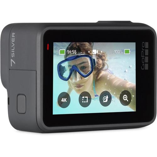 GoPro Hero 7 Silver - Comenzi vocale, Stabilizare video, GPS, Rezistent la apa, 4k30/1080p60 2