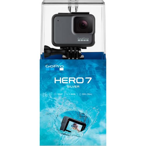 GoPro Hero 7 Silver - Comenzi vocale, Stabilizare video, GPS, Rezistent la apa, 4k30/1080p60 5
