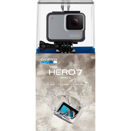 GoPro Hero 7 White - Comenzi vocale, Stabilizare video, Rezistent la apa,Touch Screen Intuitiv, Full HD 5