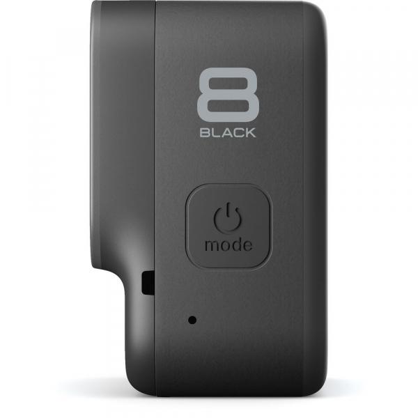 GoPro Hero 8 Black - Comenzi vocale, Stabilizare video, Wi-Fi, GPS, Rezistent la apa, 4k60/1080p240 4
