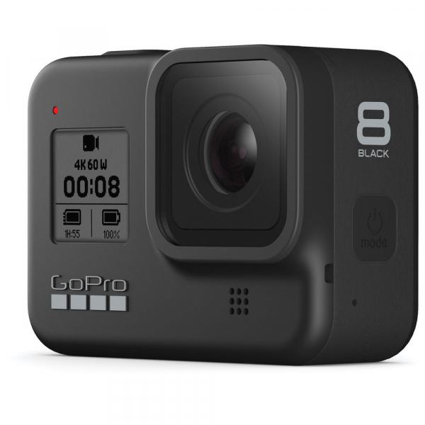 GoPro Hero 8 Black - Comenzi vocale, Stabilizare video, Wi-Fi, GPS, Rezistent la apa, 4k60/1080p240 1