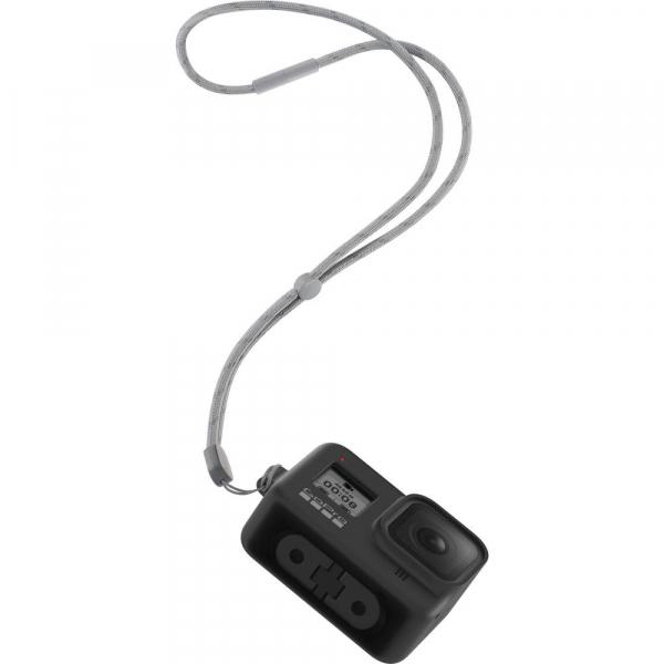 GoPro Sleeve + Lanyard AJSST-001 , husa de silicon + snur reglabil pentru HERO 8 , negru [5]