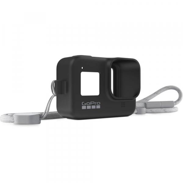 GoPro Sleeve + Lanyard AJSST-001 , husa de silicon + snur reglabil pentru HERO 8 , negru [1]