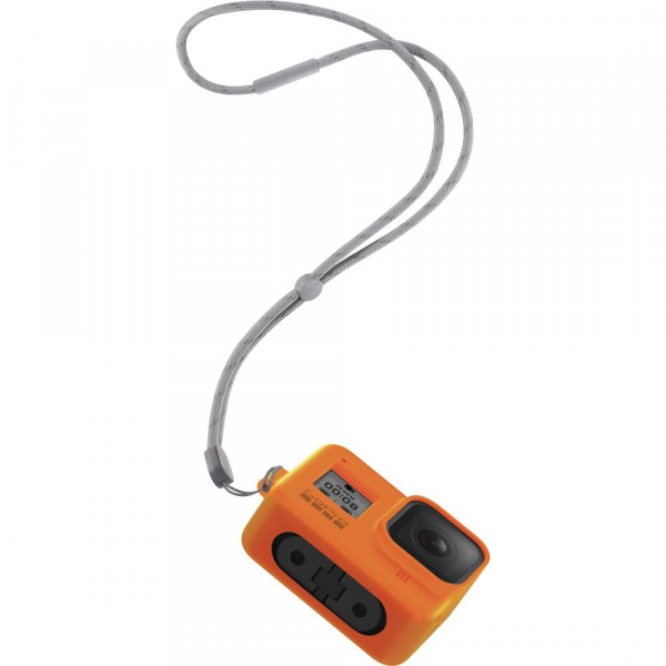 GoPro Sleeve + Lanyard AJSST-004 , husa de silicon + snur reglabil pentru HERO 8 , portocaliu [5]