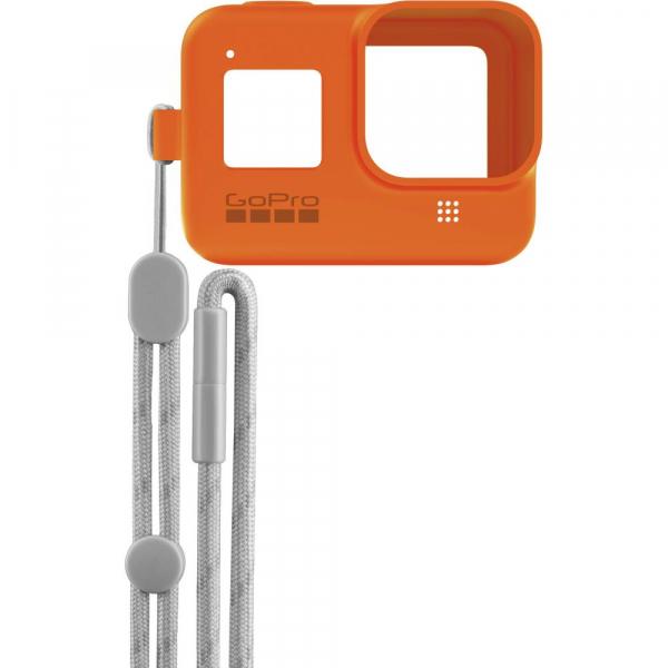 GoPro Sleeve + Lanyard AJSST-004 , husa de silicon + snur reglabil pentru HERO 8 , portocaliu [2]