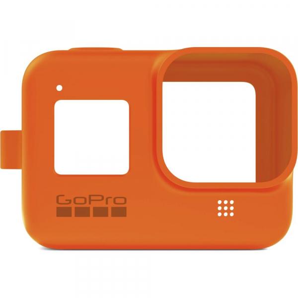 GoPro Sleeve + Lanyard AJSST-004 , husa de silicon + snur reglabil pentru HERO 8 , portocaliu [3]