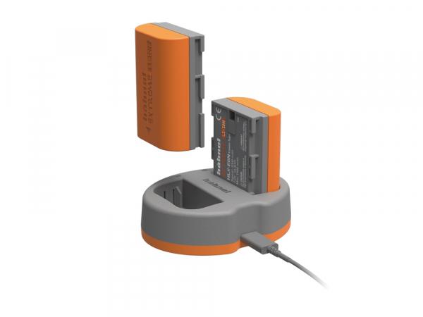 Hahnel HLX-E6N Extreme Power Kit , acumulator HLX-E6N + incarcator dual pentru Canon LP-E6N 1