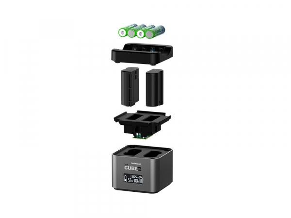 Hahnel - Pro Cube 2, Incarcator Dublu pentru Nikon EN-EL14/a , EN-EL15/a/b 2