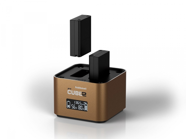 Hahnel - Pro Cube 2, Incarcator Dublu pentru Olympus 2